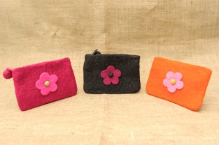 collective felt purse