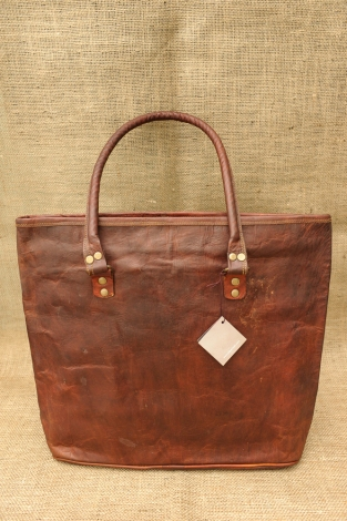 Large Leather Shopping Bag - Copy