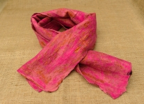 pink felted scarf