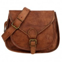 Curved leather saddle bag - Copy