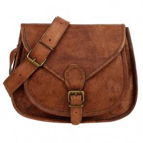 Curved leather saddle bag - Copy