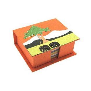 normal_Orange_elephant_dung_note_holder
